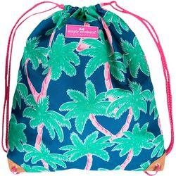 Simply Southern Palm Tree Print Drawstring Backpack