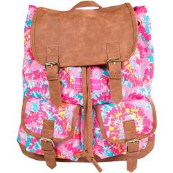 Simply Southern Juniors Tie Dye Print Buckled Backpack