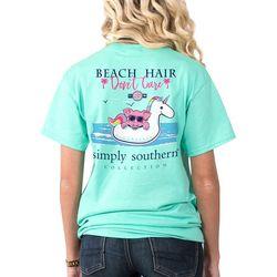 Simply Southern Juniors Beach Hair Don't Care T-Shirt