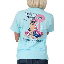 Simply Southern Juniors Sandy Toes Sunkissed Nose T-Shirt