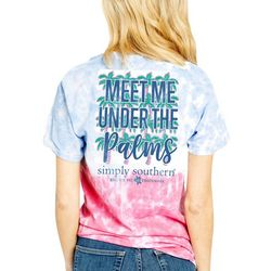 Simply Southern Juniors Meet Me Under The Palms T-Shirt
