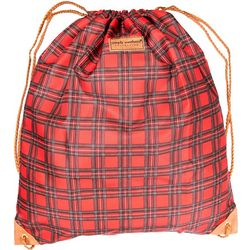 Simply Southern Tartan Plaid Print Drawstring Backpack