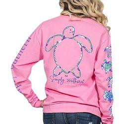 Simply Southern Juniors Sea Turtle Long Sleeve Top