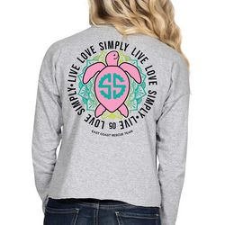 Simply Southern Juniors Live Love Turtle Long Sleeve Top