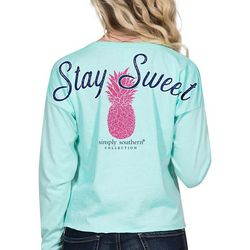 Simply Southern Juniors Stay Sweet Long Sleeve Top