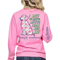 Simply Southern Juniors I Like Big Mutts Long Sleeve Top