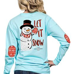 Simply Southern Juniors Let It Snow Long Sleeve Top