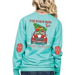 Simply Southern Juniors Christmas Tree Long Sleeve Top