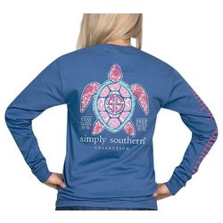 Simply Southern Juniors Classy Prep Hard Long Sleeve Top