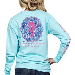 Simply Southern Juniors Est. 2005 Seahorse Long Sleeve Top