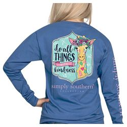 Simply Southern Juniors Do All With Kindness Long Sleeve Top