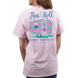 Simply Southern Juniors This Is How We Roll Camper T-Shirt