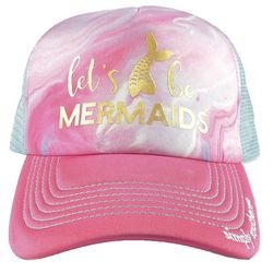 Simply Southern Juniors Marble Let's Go Mermaid Baseball Hat