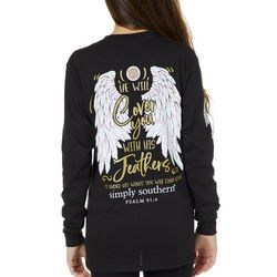 Simply Southern Juniors Psalm 91:4 Long Sleeve Top