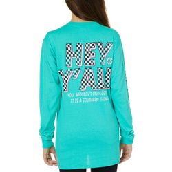 Simply Southern Juniors Hey Y'all Long Sleeve Top