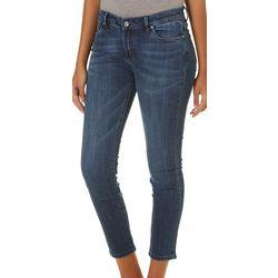 Mercer Juniors Whiskered Denim Ankle Jeans