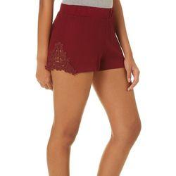 Sho Sho Juniors Floral Crochet Pull On Shorts