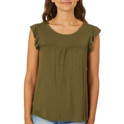 Leighton Juniors Ruffle Trim Sleeveless Top