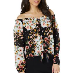 Leighton Juniors Floral Off The Shoulder Top