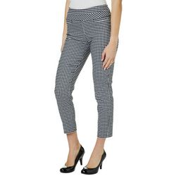 Leighton Juniors Gingham Skinny Fit Pull On Ankle Pants