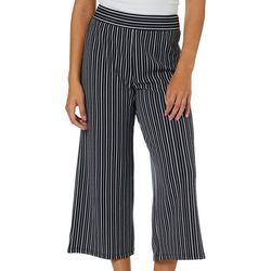 Leighton Juniors Striped Wide Leg Pull On Pants