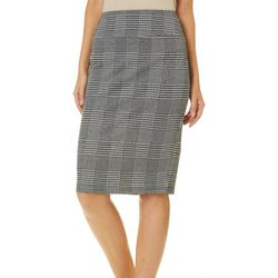 No Comment Juniors Houndstooth Pull On Pencil Skirt