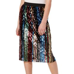 Jolie & Joy Juniors Sequin Embellished Pull On Skirt