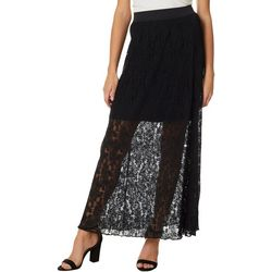Jolie & Joy Juniors Lace Pull On Skirt