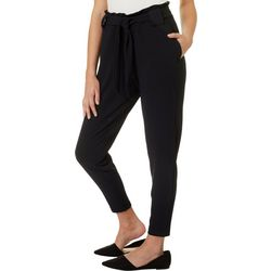 Jolie & Joy Juniors Solid Pull On Belted Pants
