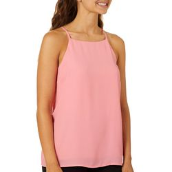 Shinestar Juniors Solid High Neck Sleeveless Top