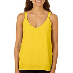 Shinestar Juniors Solid V-Neck Sleeveless Top