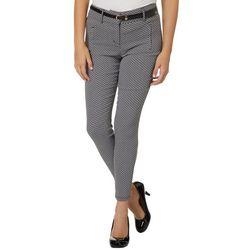 Shinestar Juniors Belted Diamond Print Pants