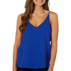Shinestar Juniors Solid Layered V-Neck Sleeveless Top
