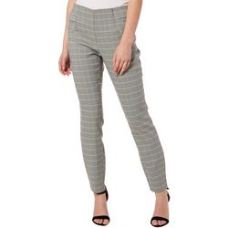 Joe Benbasset Juniors Houndstooth Print Pull On Pants