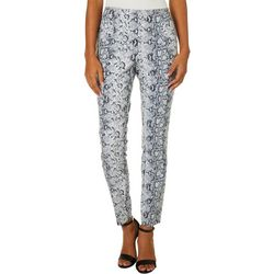 Joe Benbasset Juniors Snakeskin Print Pull On Ankle Pants