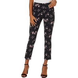 Joe Benbasset Juniors Pull On Floral Stretch Ankle Pants