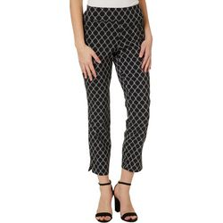 Joe Benbasset Juniors Geometric Print Pull On Ankle Pants