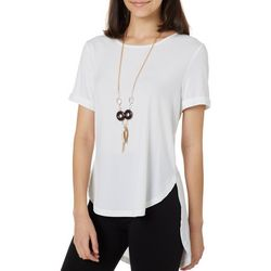 Kontrol Juniors Solid Tunic Top & Necklace