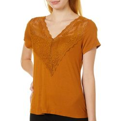 Roommates Juniors Lace V-Neck Top
