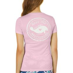 Chubby Mermaids Juniors Solid Short Sleeve Top