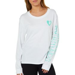 Chubby Mermaids Juniors Love Chubby Mermaids Long Sleeve Top