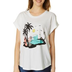 Chubby Mermaids Juniors Surfing Manatee T-Shirt