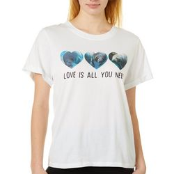 Chubby Mermaids Juniors Manatee All You Need Is Love T-Shirt