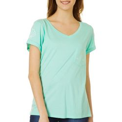 Chubby Mermaids Juniors Solid Chest Pocket Top