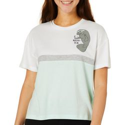 Chubby Mermaids Juniors Mana-Tea Colorblock T-Shirt