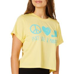 Chubby Mermaids Juniors Peace Love & Manatees T-Shirt