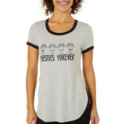Chubby Mermaids Juniors Besties Forever T-Shirt