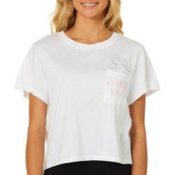 Chubby Mermaids Juniors Mermaid Vibes Embroidered T-Shirt