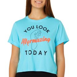 Chubby Mermaids Juniors You Look Mermazing Today T-Shirt
