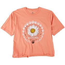 Juniors Moon Flower T-Shirt